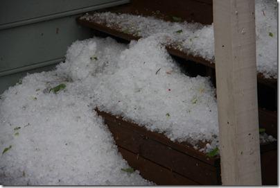 piled up hail