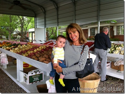 Hailey and Nana at the farmers market