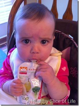 Hailey eats puree