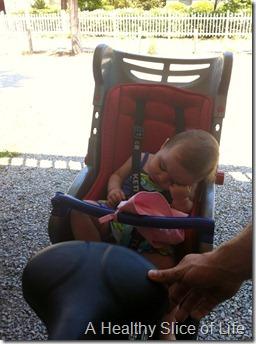 Hilton Head Island 2012- Hailey asleep on bike