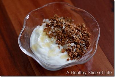 chobani honey and Love Grown granola