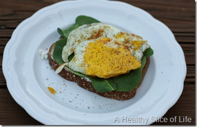 toast goat cheese egg
