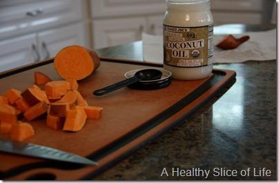 Trader Joe's Organic Virgin coconut oil- roasted sweet potatoes