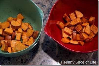 Trader Joe's Organic Virgin coconut oil- sweet and spicy roasted sweet potatoes