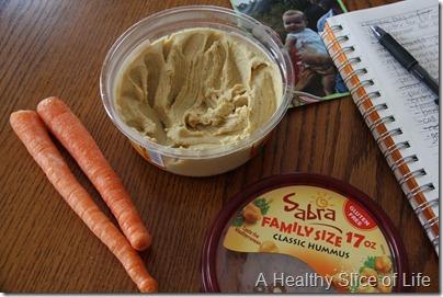 carrots and sabra hummus