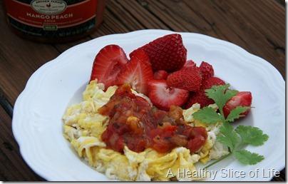 eggs and berries breakfast
