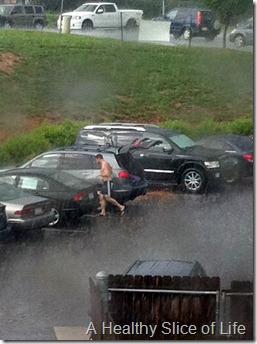 post yoga downpour