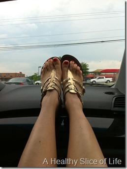 waiting in car