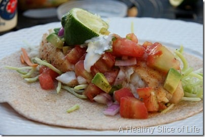 Blackened Fish Tacos- close up