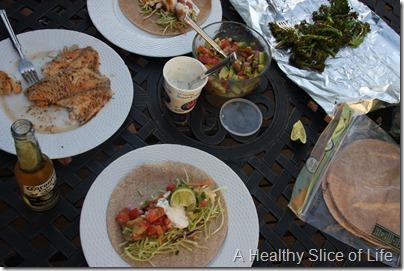 Blackened Fish Tacos- set up