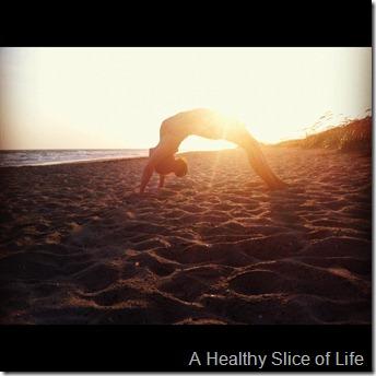 Bald Head Island beach yoga