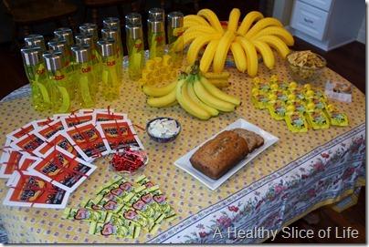 DOLE banana party- the spread