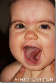 Hailey 10 months- twisty tongue