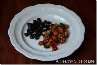 Munchkin Meals- Lunch- blw- roasted vegetables and black beans