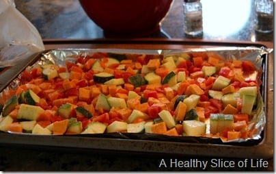 Munchkin Meals- Lunch- blw- roasted vegetables- before roasting