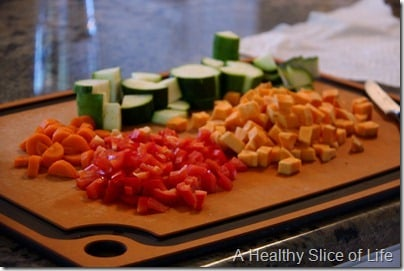 Munchkin Meals- Lunch- blw- roasted vegetables- chopped