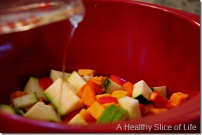 Munchkin Meals- Lunch- blw- roasted vegetables- drizzle coconut oil
