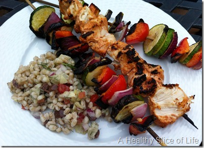 WIAW- kabobs and barley