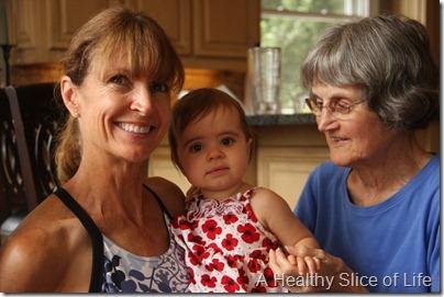 Hailey with Nana and Nannie