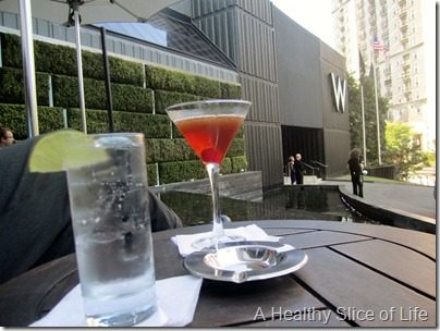 W Midtown Atlanta- drink out front