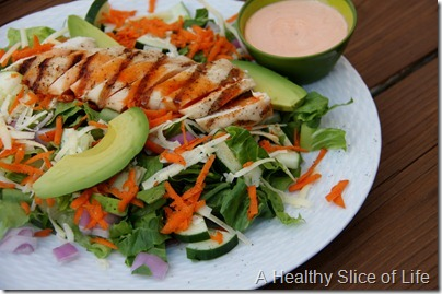 WIAW- buffalo chicken salad