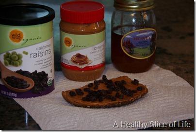 WIAW- pb honey and raisin toast