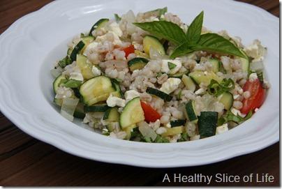 WIAW- summer barley feta salad