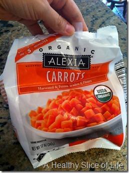 munchkin meals- quick meals- Alexia organic carrots