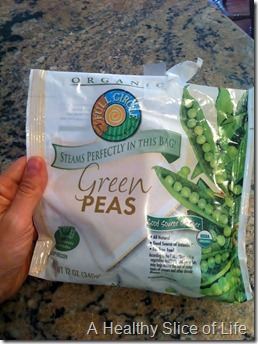 munchkin meals- quick meals- Full Circle organic peas