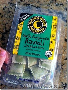 munchkin meals- quick meals- Rising Moon Organics frozen ravioli