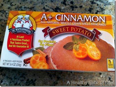 munchkin meals- quick meals- Wafelbakkers sweet potato pancakes