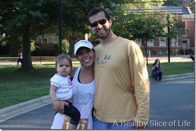 Davidson Run for the Green 10k 2012- family at the finish