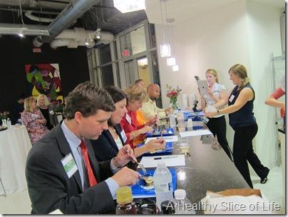 Food Lion Blogger Cook Off- sampling judges