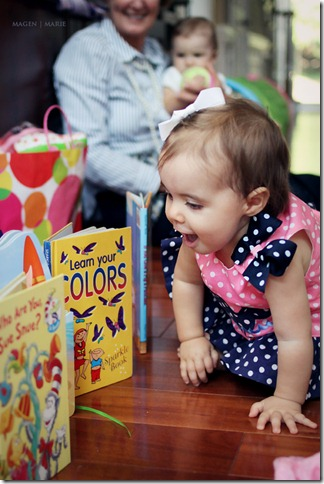 Hailey's 1st birthday- books