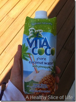 WIAW- Vita Coco with pineapple