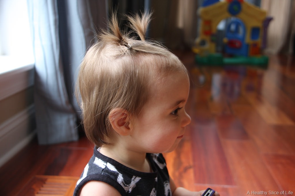 Hailey 1 year- pigtails
