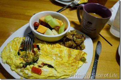 WIAW- La Patisserie veggie omelet