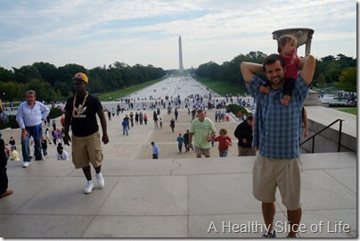 Washington DC- Hailey and Dad reflecting pool
