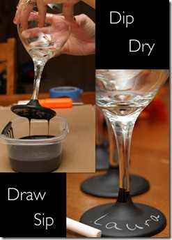 chalkboard wine glass