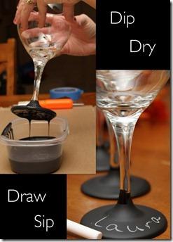 chalkboard wine glass