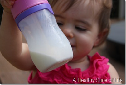 introducing baby to cow's milk- milk