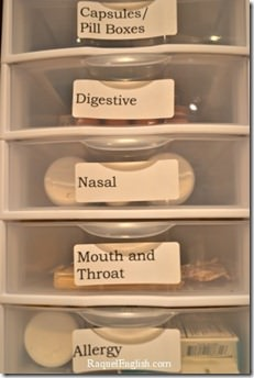 organized medicine drawers