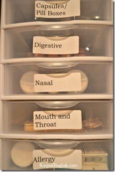 organized medicine drawers