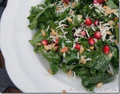 overnight kale salad- perfect winter salad