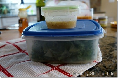 overnight kale salad- prep