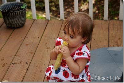summer corn salad- baby loves corn
