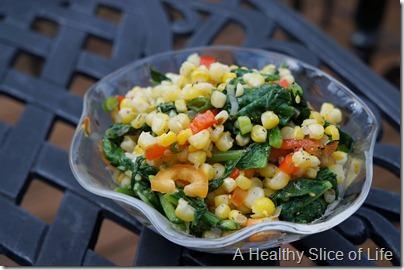 summer corn salad- close up