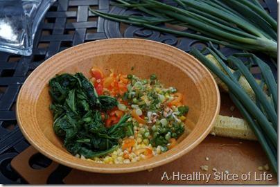 summer corn salad- ingredients in