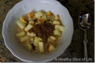 wiaw- apple oatmeal coconut butter