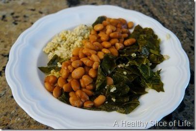 wiaw- collards and quinoa